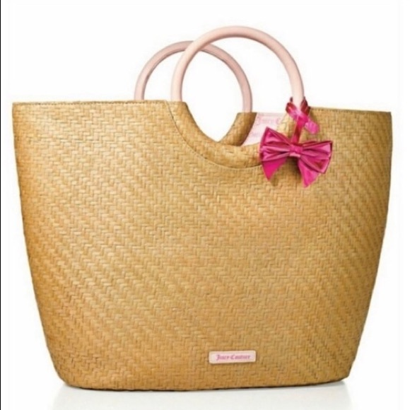 NWOT Juicy Couture straw beach bag